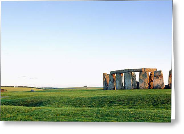 Lintel Greeting Cards - Stonehenge Wiltshire England Greeting Card by Panoramic Images