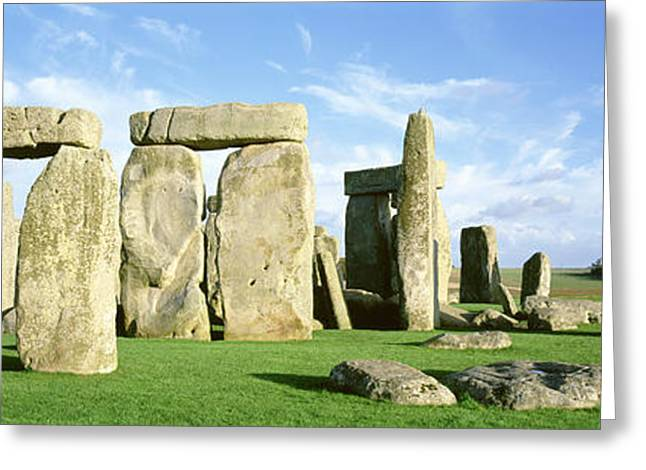 World Heritage Site Greeting Cards - Stonehenge, Wiltshire, England, United Greeting Card by Panoramic Images