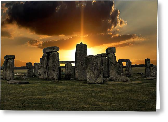 World Wonder Greeting Cards - Stonehenge Wiltshire UK Greeting Card by Martin Newman