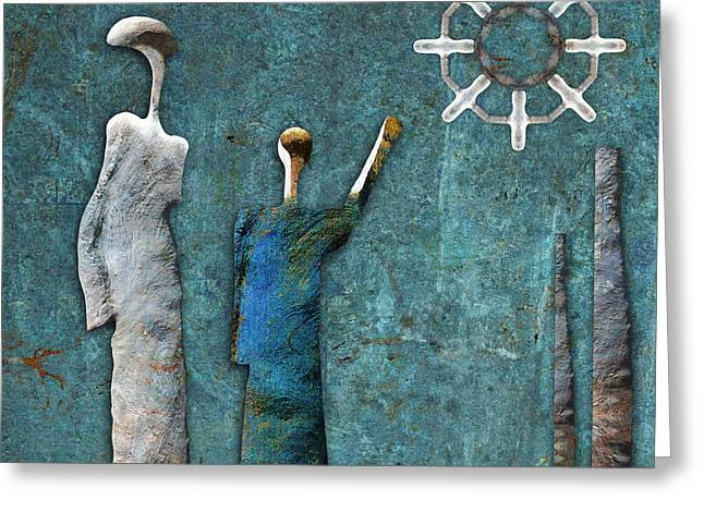 Stones Digital Art Greeting Cards - Stonemen - 02201 Greeting Card by Variance Collections
