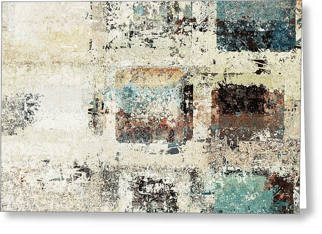 Beige Abstract Digital Art Greeting Cards - Skouarioz - 03f2t Greeting Card by Variance Collections
