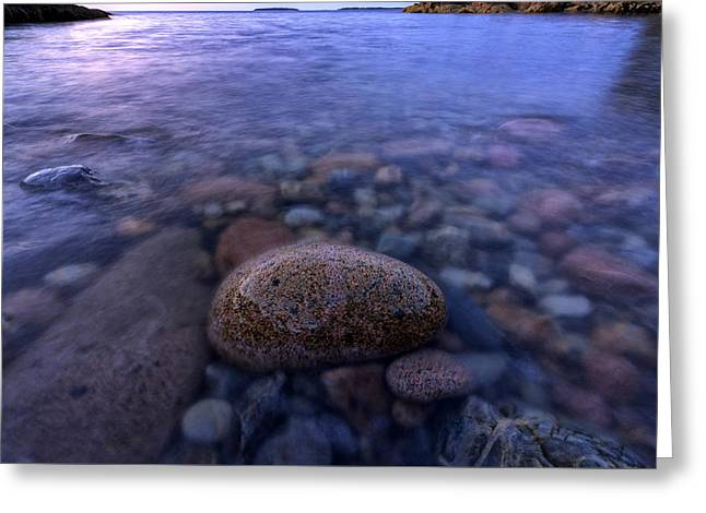Stones And Water In Acadia National Park Greeting Card by Rick Berk