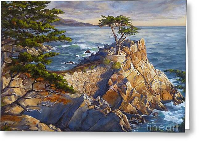 The Lone Cypress Greeting Cards - Stones Edge Greeting Card by Shelley Cost