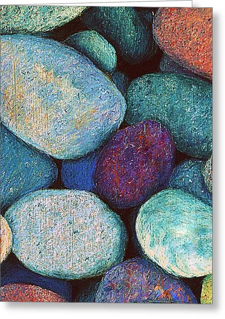 Stones Pastels Greeting Cards - Stones in Pastel Greeting Card by Antonia Citrino