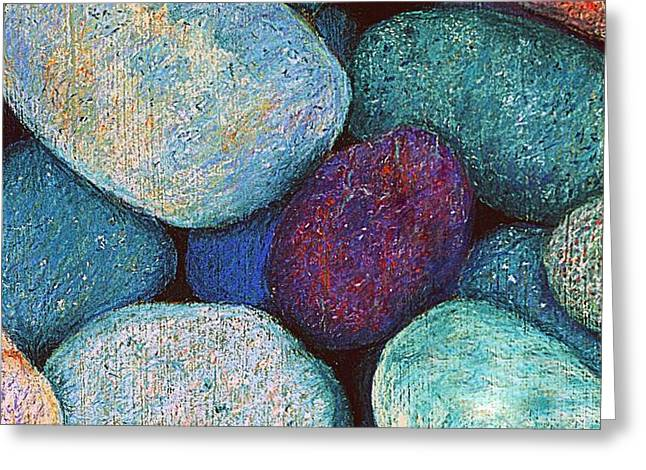 Stones in Pastel Greeting Card by Antonia Citrino