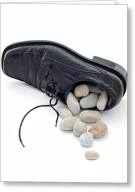 Problem Greeting Cards - Stones in the shoe Greeting Card by Sinisa Botas