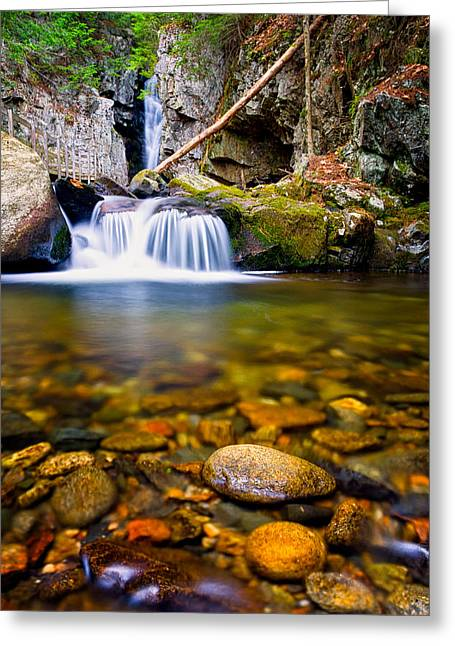Quite Photographs Greeting Cards - Stones In The Stream Greeting Card by Jeff Sinon