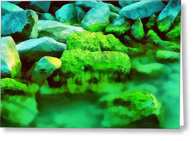 Stones In The Water Greeting Card by Odon Czintos