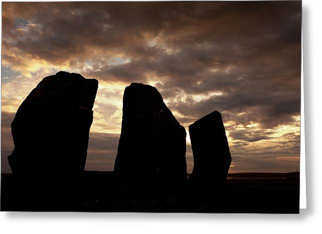 Druidic Greeting Cards - Stones of Stenness Orkney Greeting Card by Peter Lopeman
