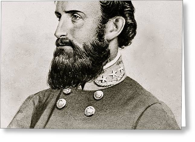 Stonewall Jackson Confederate General Portrait Greeting Card by Anonymous