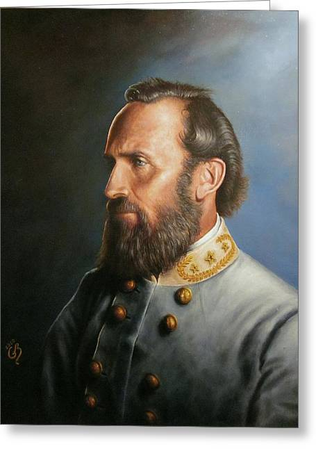 Civil Greeting Cards - Stonewall Jackson Greeting Card by Glenn Beasley