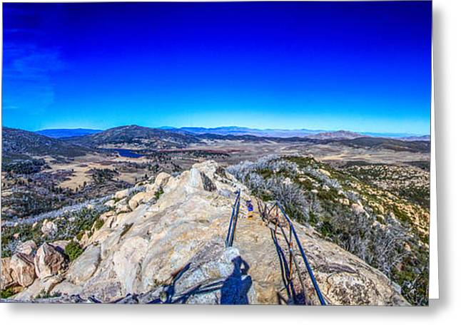 Stonewall Greeting Cards - Stonewall Mountain Panorama Cuyamaca Ca Greeting Card by Will Castro