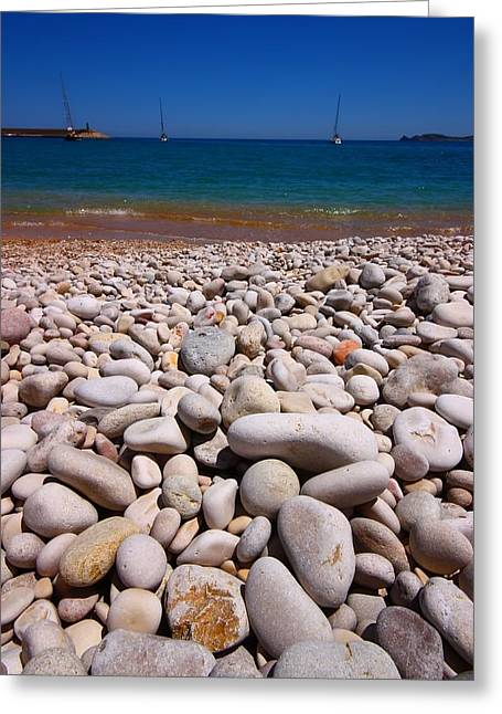 Costa Blanca Greeting Cards - Stoney Beach Greeting Card by FireFlux Studios