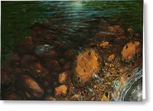 Upstate Paintings Greeting Cards - Stoney Creek Memory Greeting Card by Jason Sawtelle