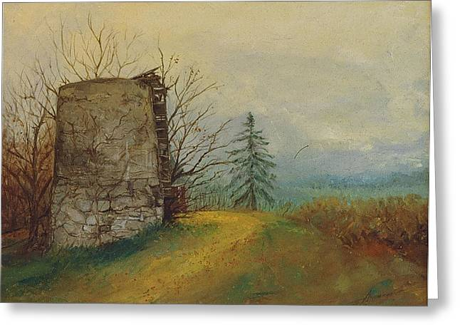 Stoney Silence Greeting Card by Sherri Anderson