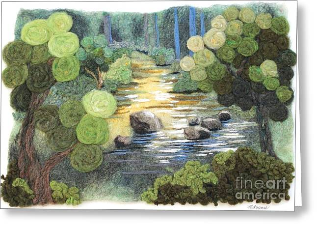 Felting Greeting Cards - Stoneycreek Summer Greeting Card by Michelle Bowers