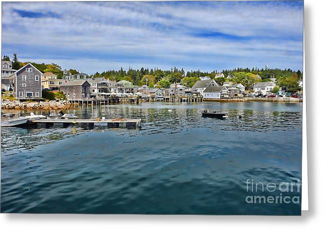 Stonington In Maine Greeting Card by Olivier Le Queinec