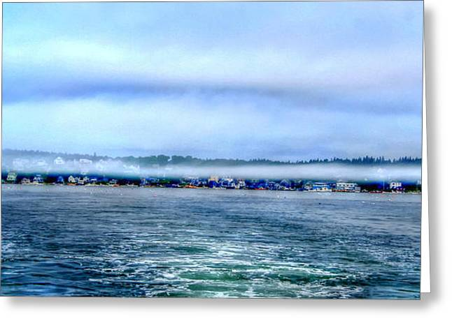Haut Digital Greeting Cards - Stonington in the mist Greeting Card by Murray Dellow
