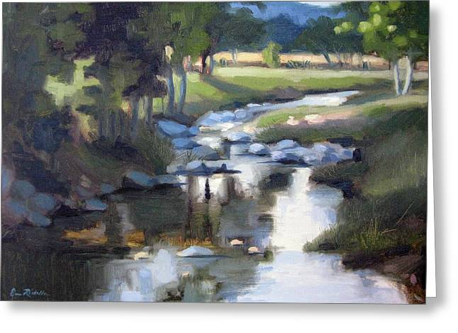 Leipers Fork Paintings Greeting Cards - Stony Creek Greeting Card by Erin Rickelton
