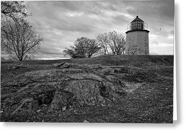 Stony Point Lighthouse Greeting Card by Joan Carroll