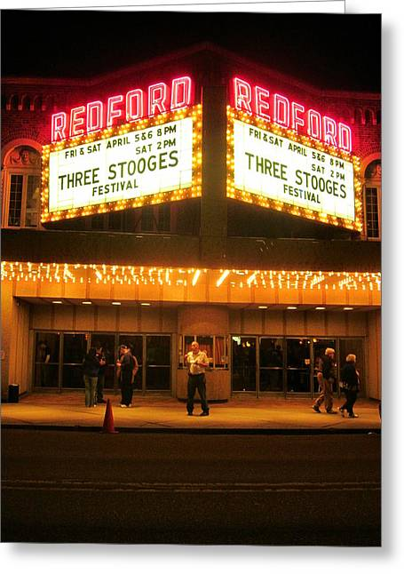 Guy Ricketts Photography Greeting Cards - Stooges On The Big Screen Greeting Card by Guy Ricketts