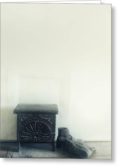 Pairs Greeting Cards - Stool And Shoes Greeting Card by Joana Kruse