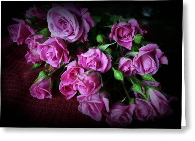 First Love Greeting Cards - Stop And Smell The Roses Greeting Card by Kay Novy