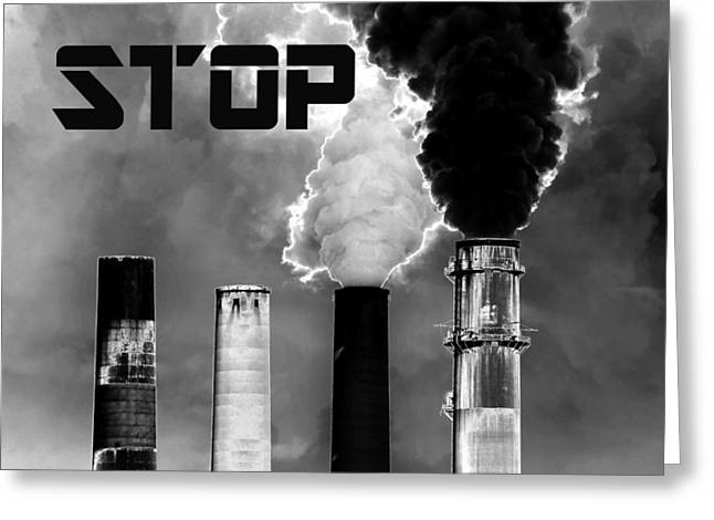 Power Plants Greeting Cards - Stop Greeting Card by David Lee Thompson