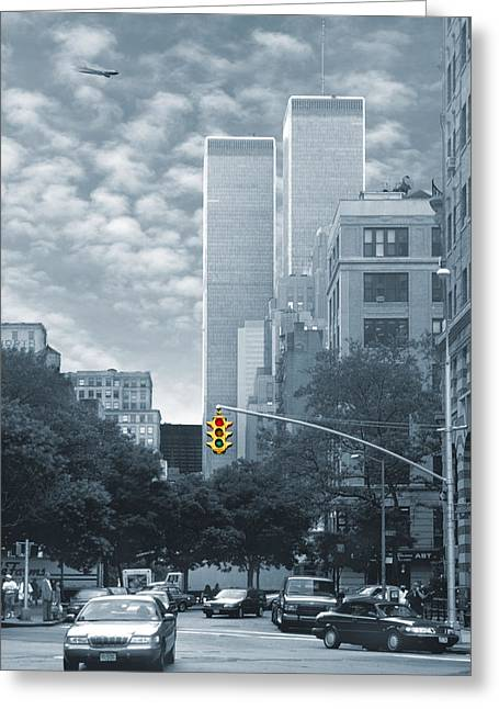 Twin Towers Greeting Cards - Stop Greeting Card by Mike McGlothlen