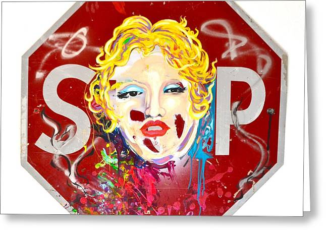 Marlyn Greeting Cards - Stop Pop Greeting Card by Ryan Williams