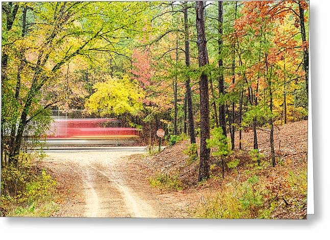 Stop - Beaver's Bend State Park - Highway 259 Broken Bow Oklahoma Greeting Card by Silvio Ligutti