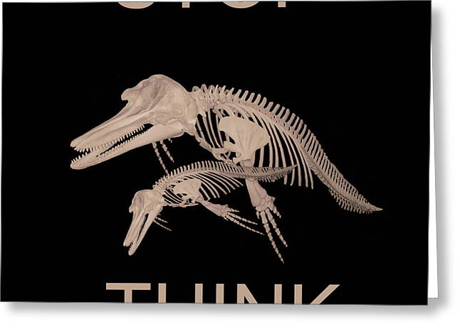 Stop Think Greeting Card by Eric Kempson
