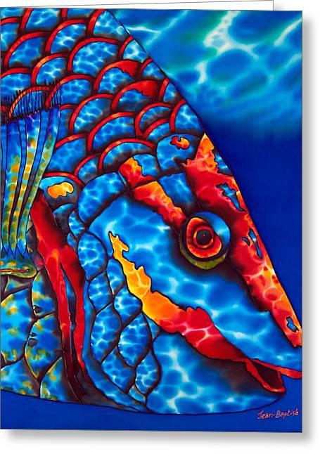 Stoplight Parrotfish Greeting Card by Daniel Jean-Baptiste