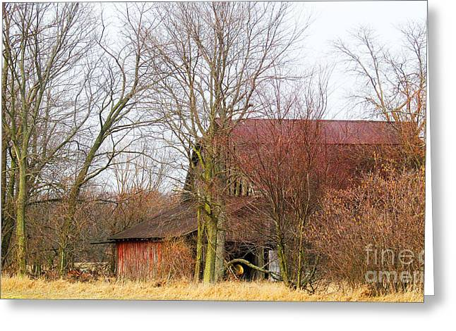 Moral Greeting Cards - Storage Old Barn Greeting Card by Tina M Wenger