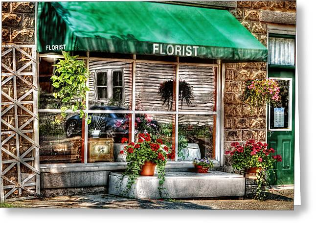 Trellis Greeting Cards - Store - Florist Greeting Card by Mike Savad