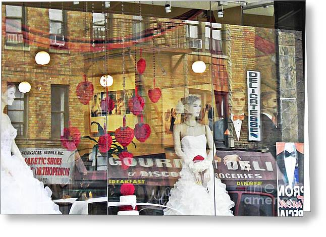 Store Front Wedding Greeting Card by Sarah Loft