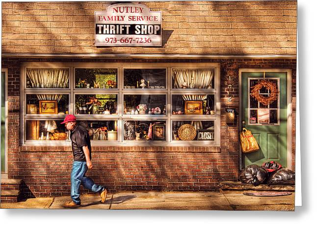 Store -  The Thrift Shop Greeting Card by Mike Savad
