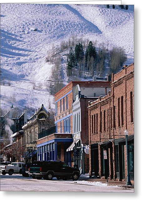 Storefronts, Aspen, Colorado Greeting Card by Panoramic Images