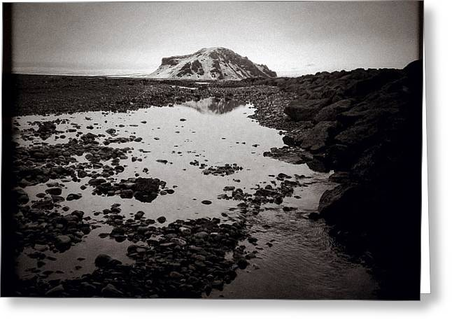 Icelandic Greeting Cards - Towards Stora Dimon Greeting Card by Dave Bowman
