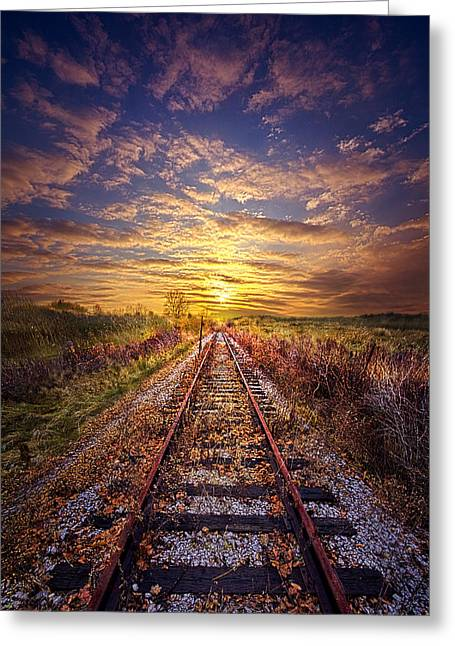 Railway Greeting Cards - Stories to be Told Greeting Card by Phil Koch