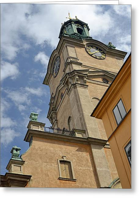 Cupula Greeting Cards - Storkyrkan Cathedral I Greeting Card by Marianne Campolongo