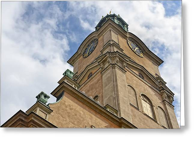 Cupula Greeting Cards - Storkyrkan Cathedral II Greeting Card by Marianne Campolongo