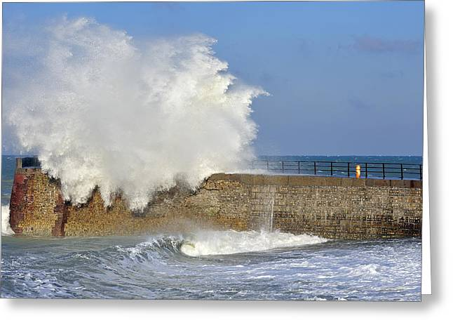 Valery Greeting Cards - Big Wave Greeting Card by Arterra Picture Library
