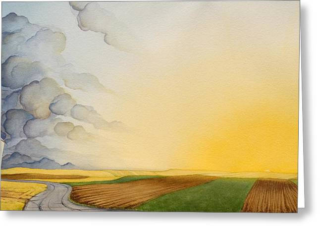 High Plains Greeting Cards - Storm And Sunset II Greeting Card by Scott Kirby