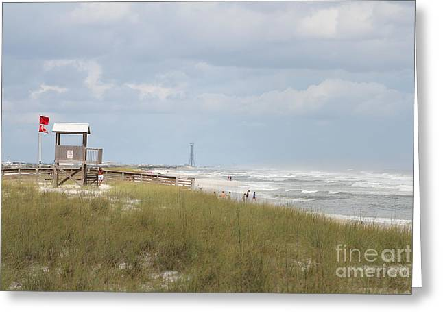 Pensacola Fishing Pier Greeting Cards - Storm Andrea Greeting Card by Michelle Powell