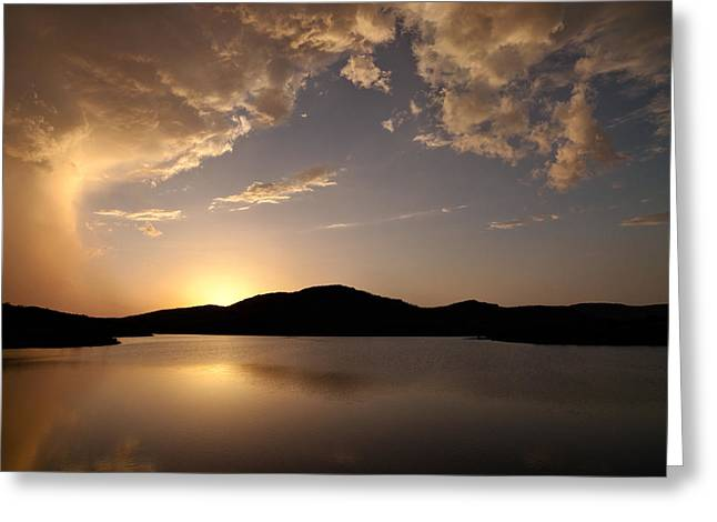 Southwest Oklahoma Greeting Cards - Storm Approaching at Sunset - Wichita Mountains Greeting Card by Todd Aaron