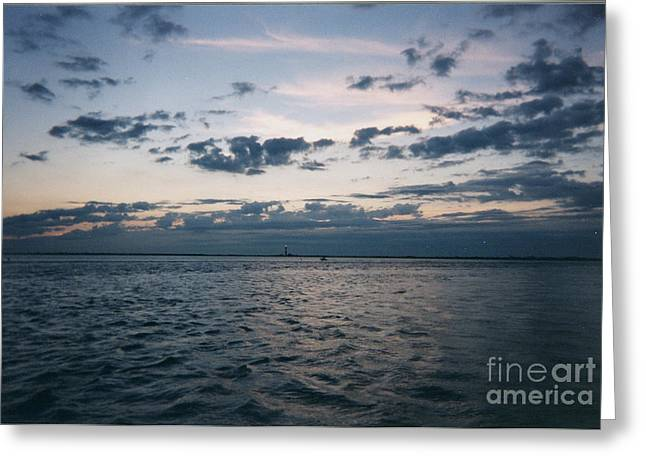 Storm Prints Greeting Cards - Storm Approaching over Sunset Greeting Card by John Telfer
