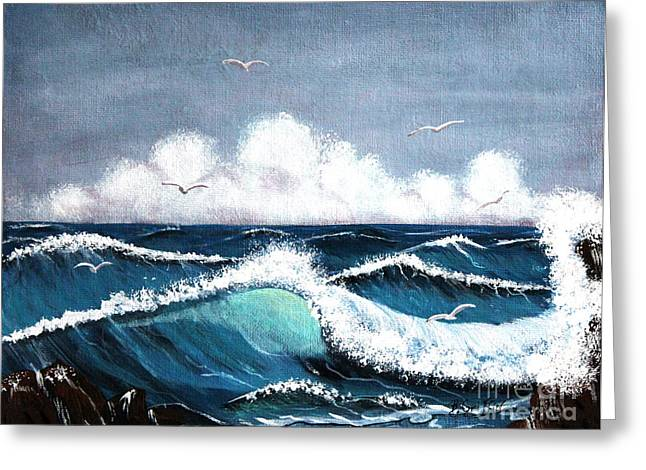 Fog At Sea Greeting Cards - Storm at Sea Greeting Card by Barbara Griffin