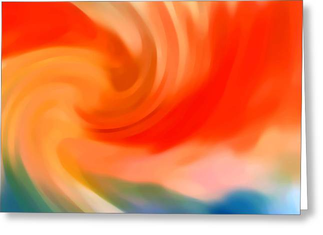 Abstract Movement Greeting Cards - Storm at Sea Square 2 Greeting Card by Amy Vangsgard