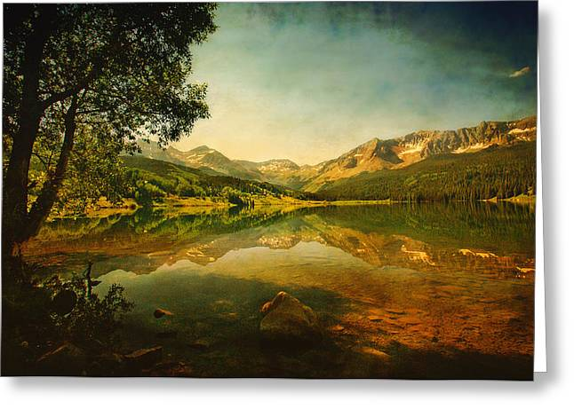 Gold Trout Greeting Cards - Storm at Trout Lake Greeting Card by Priscilla Burgers